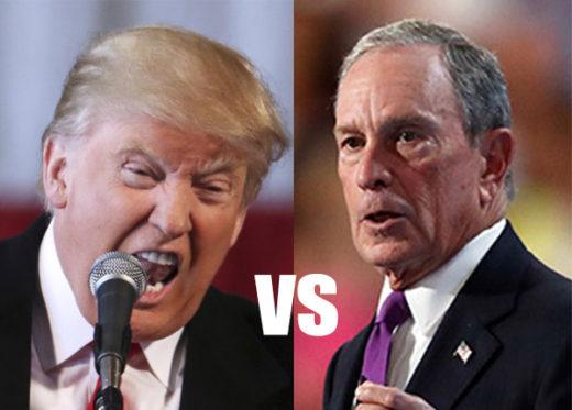 foto de Trump y Bloomberg