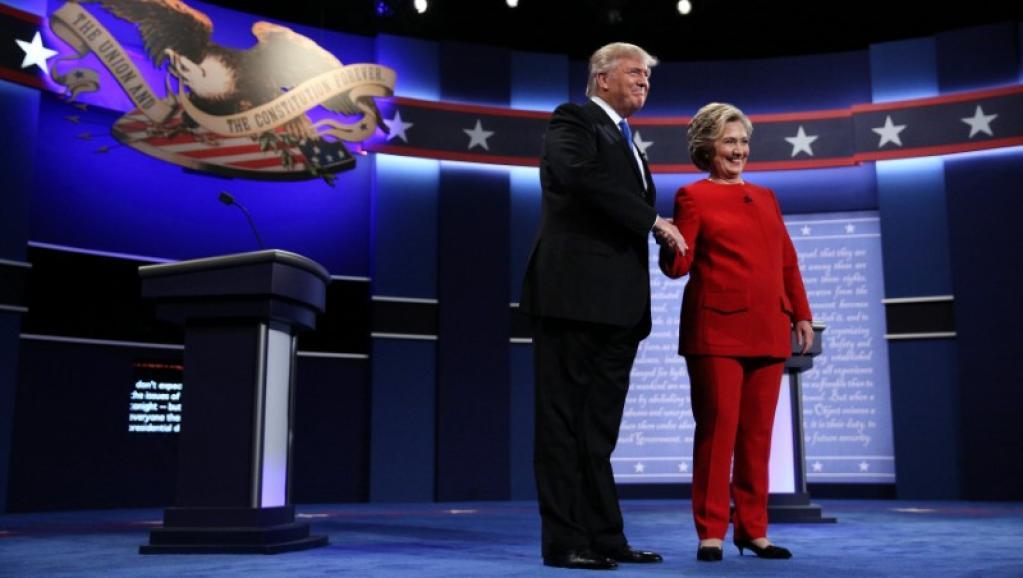 Foto de Hillary y Trump