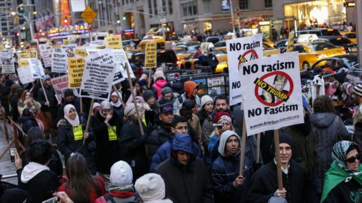 Foto de protesta contra Trump
