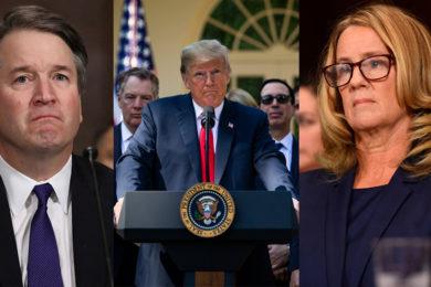 foto de Brett Kavanaugh - Trump - Christine Blasey Ford